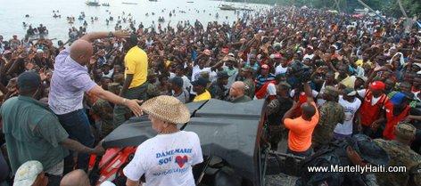 President Michel Martelly - Une foule immense a Laye