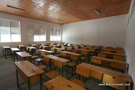 Vue d'une salle de classe