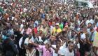 Vue partielle de la foule a Grande-Riviere-du-Nord - Visite du President Martelly