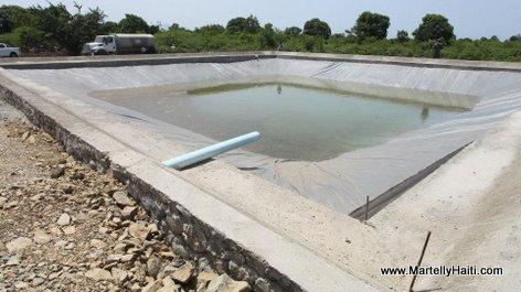 A Limonade, un Centre de traitement des eaux usees est en construction sous la direction de la DINEPA