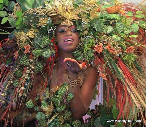 Diverses varietes des fleurs sur le parcours carnavalesque
