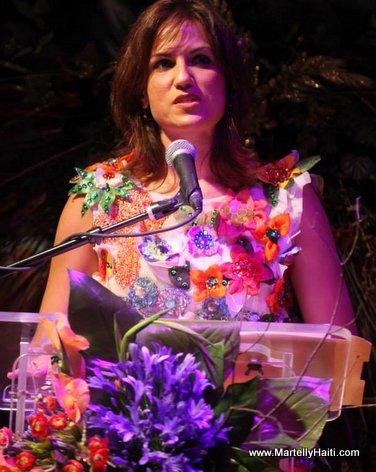 La Ministre du Tourisme, Mme Stephanie Balmir Villedrouin, dans ses propos de circonstance