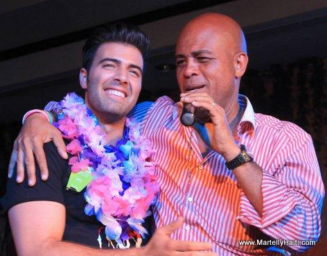 President Michel Martelly et l'artiste El Diablo
