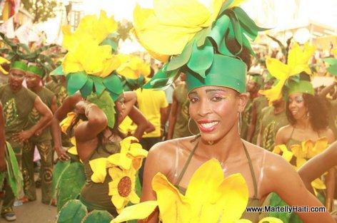 Les diverses varietes des fleurs sur le parcours carnavalesque