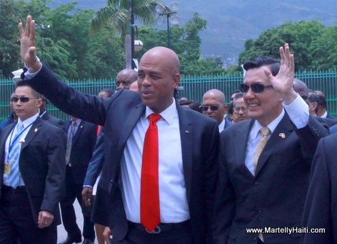 President Michel Martelly et son homologue de la Republique de Chine (Taiwan), S.E.M. Ying-Jeou MA