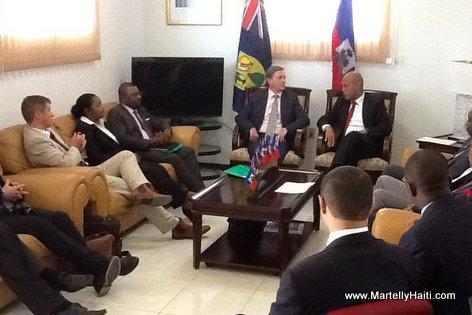 Rencontre de travail entrepresident Martelly et Ric Todd, Gouverneur des Iles Turques et Caiques