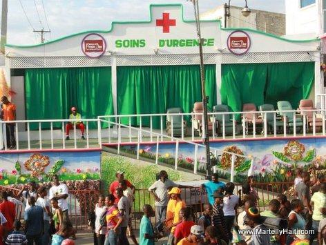 Une vue du stand de Soins d'Urgence