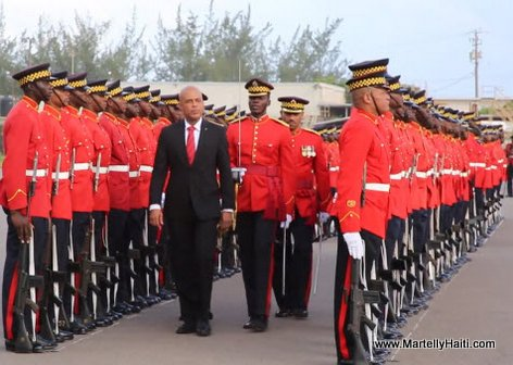 President Martelly arrival in Jamaica