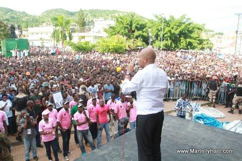 President Martelly Ki ap bay Discours li Vertieres jou 18 Nov 2013 la - Cap Haitien