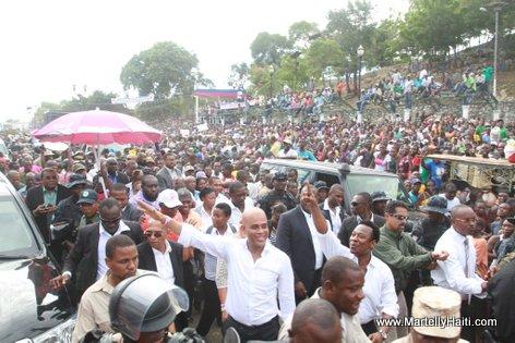 President Martelly ak Depute Gracia Delva, Vertieres, 18 Nov 2013 - Cap Haitien
