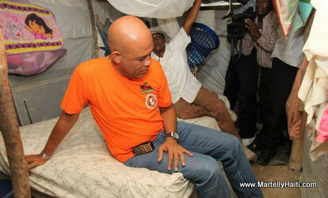 President Martelly Anba Tant