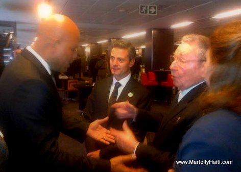 President Martelly (Haiti), Raul Castro (Cuba) et Enrique Pena Nieto (Mexico) - Afrique du Sud