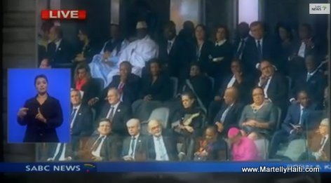 President Martelly at Mandela's Funeral in South Africa