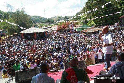 Visit President Martelly Cornillon Gand Bois Haiti