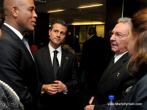 President Michel Martelly rencontre President Raul Castro (Cuba)