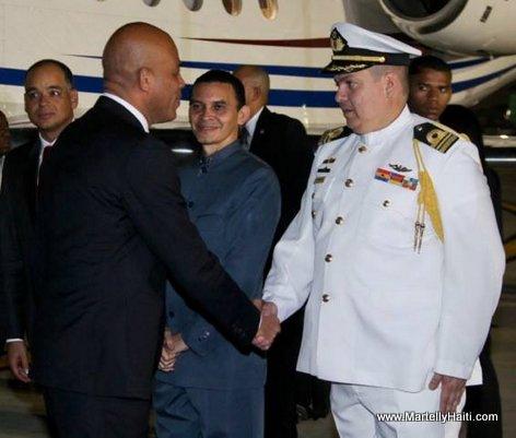 President Martelly in Venezuela