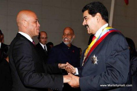 President Michel Martelly (Haiti) ak President Nicolas Maduro (Venezuela)