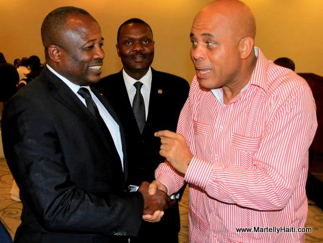 Haiti - President Martelly ak Dieuseul Simon Desras, President Chanm Sena-a