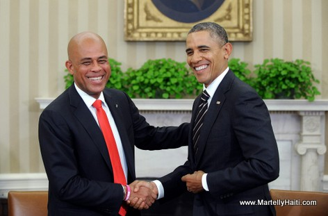 President Martelly and President Obama in washington