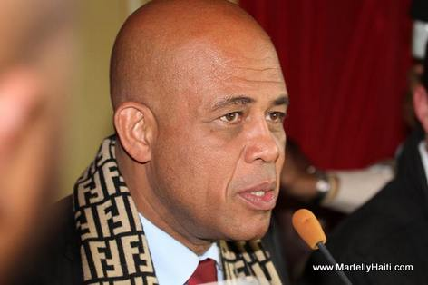 President Michel Martelly, Maison de l'Amerique Latine a Paris