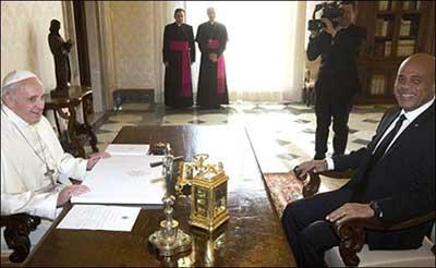 Haiti President Martelly - Pape Francois - Rome