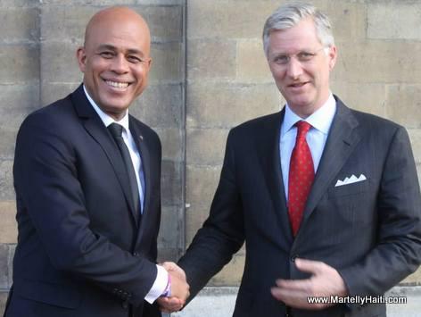 Haiti President Michel Martelly et ROI PHILLIPE 1er de Belgique