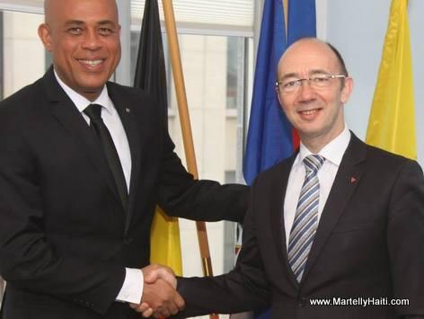 President Martelly en Belgique