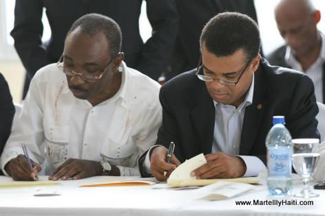 Haiti - Protocole d'Accord El Rancho - Evans Paul ak Steven Benoit ap Siyen