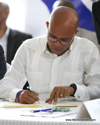 Haiti - Protocole d'Accord El Rancho - President Martelly ap Siyen