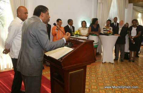 Immortel Dany Laferriere, President Martelly - Reception Officielle