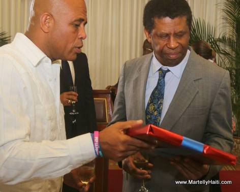 President Michel Martelly, Immortel Dany Laferriere - Reception Officielle, Palais National