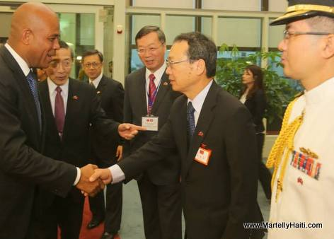President Michel Martelly Arrivee a Taiwan - Republique de Chine