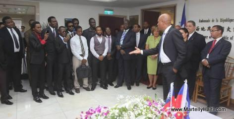 Taiwan - Ambassade d 'Haiti - President Martelly Rencontre des etudiants Haitiens