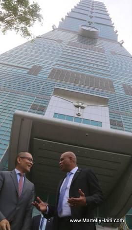 President Martelly en visite a Taiwan
