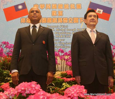 Taiwan State Dinner for Haiti President Michel Martelly