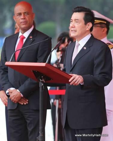 Haiti President Michel Martelly in Taiwan
