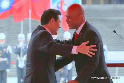 Haiti President Michel Martelly in Taiwan