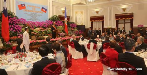 Taiwan State Dinner for Haiti President Michel Martelly