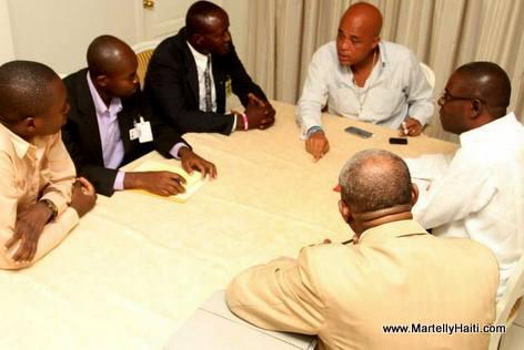 Haiti - President Martelly Rencontre les Partis Politiques Signataire de l'accord El Rancho