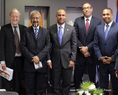 Club de Madrid meeting with Haiti Premier Ministre Laurent Lamothe