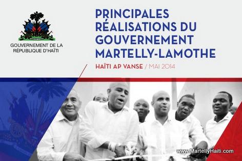 Principales Realisation du Gouvernement Martelly-Lamothe Mai 2014