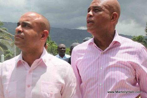 President Martelly and Prime Minister Lamothe
