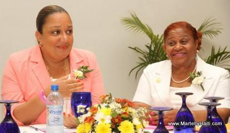 Sophia Martelly, Lucile Charles, Pre sidente de l 'Association Nationale des Infirmie res Licencie es d 'Haiti