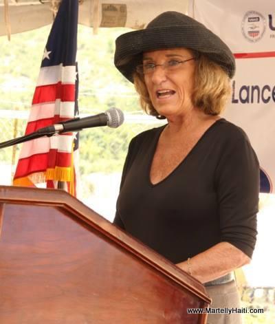 Pamela White Ambassadeur Americain en Haiti - Construction barrage Riviere Grise