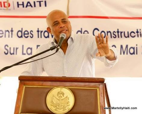 President Martelly - Construction barrage Riviere Grise