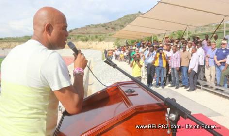 President Martelly - Inauguration Lycee Jean-Baptiste Pointe du Sable - St-Marc Haiti