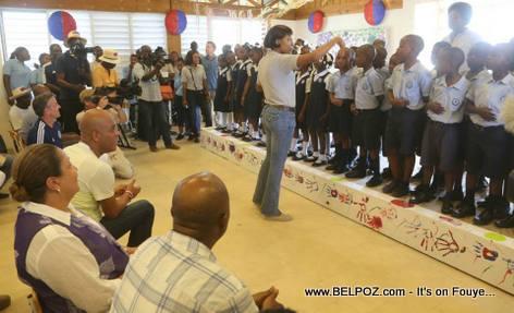 Inauguration Lycee Jean-Baptiste Pointe du Sable - St-Marc Haiti