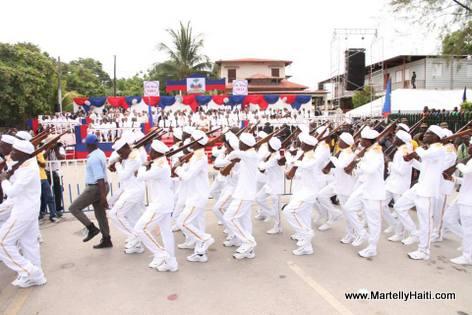 President Martelly - Ceremonie 18 Mai 2014, Arcahaie Haiti - 211e anniversaire du Drapeau