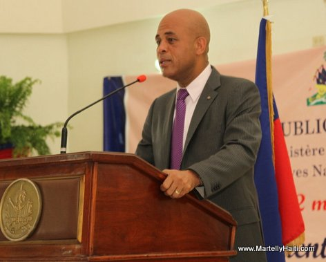Intervention du President Michel Martelly au lancement officiel du Programme d'Amelioration des Services publics