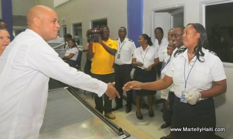 President Martelly visit Haiti Toussaint Louverture Airport